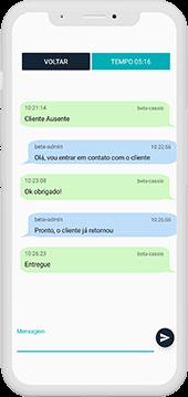 Chat com motorista sistema de gestão de entregas
