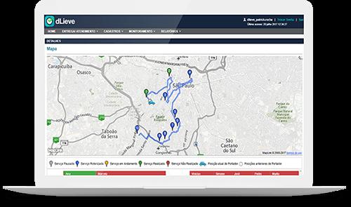 otimização de rotas sistema de gestão de entregas