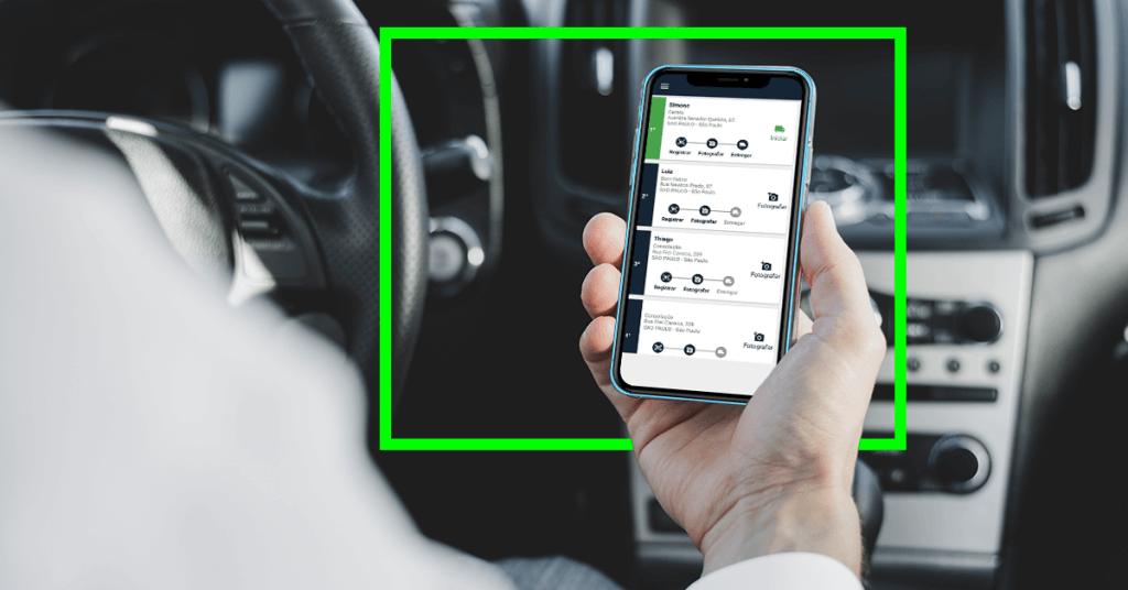 Tela do app de gestão de entregas dLieve