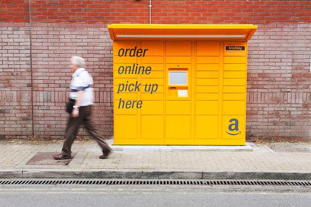 transporte e logistica lockers amazon